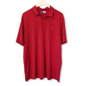 Callaway Men's Red/Black Stripe Golf Polo—XL